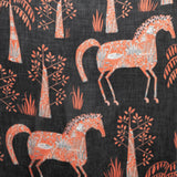 FOLKLORIC HORSE PRINT SCARF