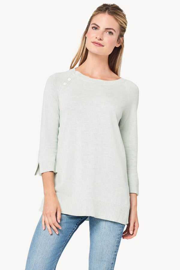 Seafoam Heather Button Tunic