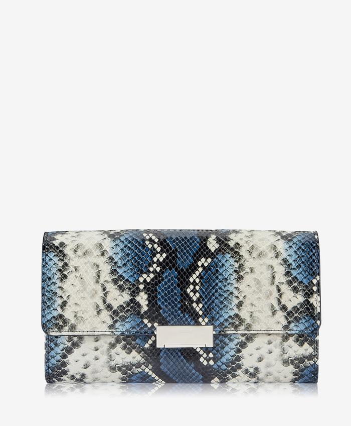 MELROSE CLUTCH COLORFUL PYTHON