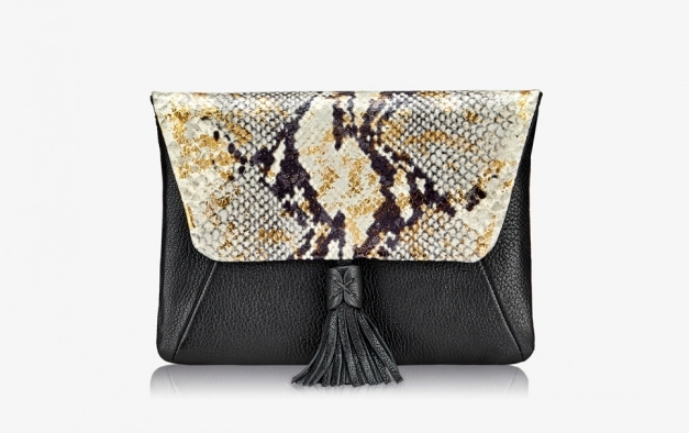 Aveline Clutch-Gold Wash