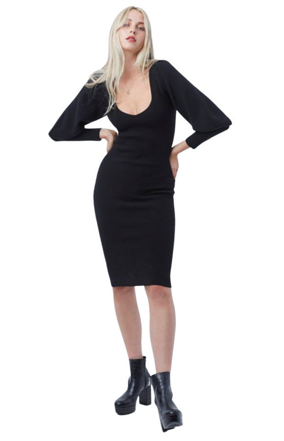 JOSS KNITS BALLOON SLEEVE DRESS