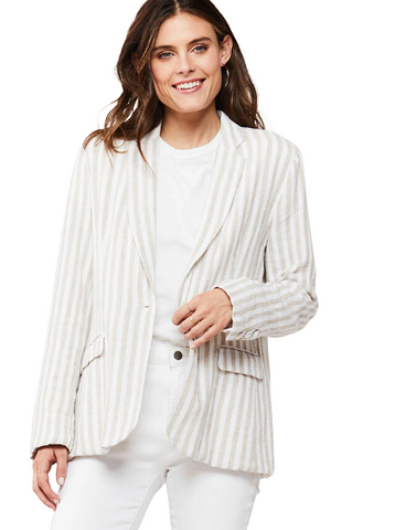 MARCHESA STRIPE BLAZER