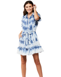 ELODIE TIE BUTTON-UP DRESS