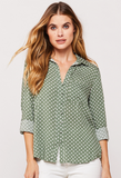 FIDORA BUTTON DOWN TOP