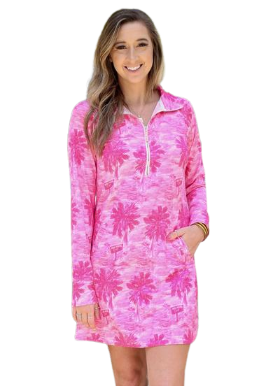 SOPHI SPORT HALF ZIP DRESS