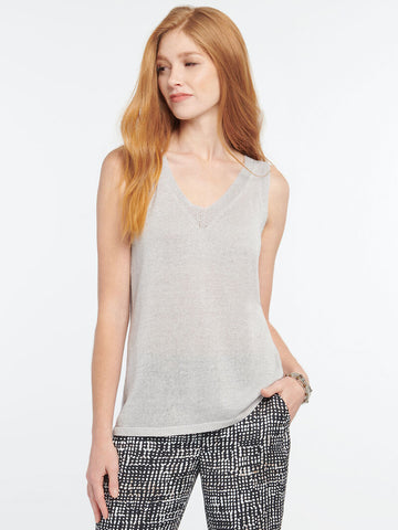 Primrose Sweater Tank- Platinum