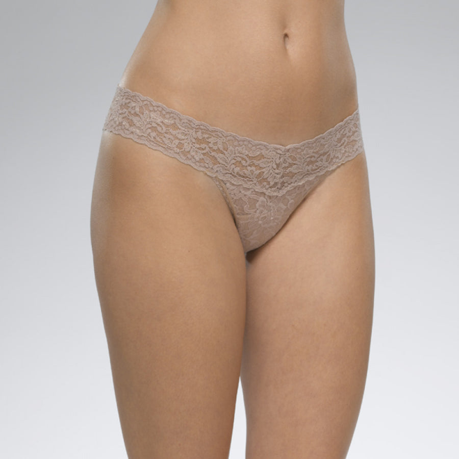 Low rise Thong- Taupe