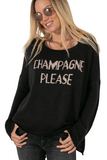 CHAMPAGNE PLEASE SWEATER