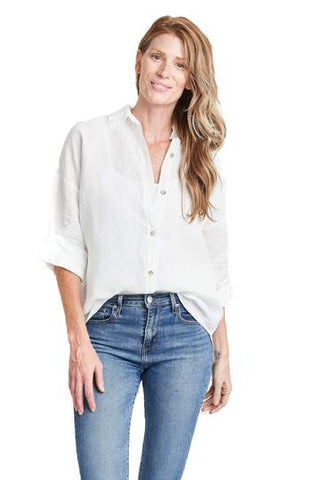 LAIZA WHITE BOYFRIEND SHIRT