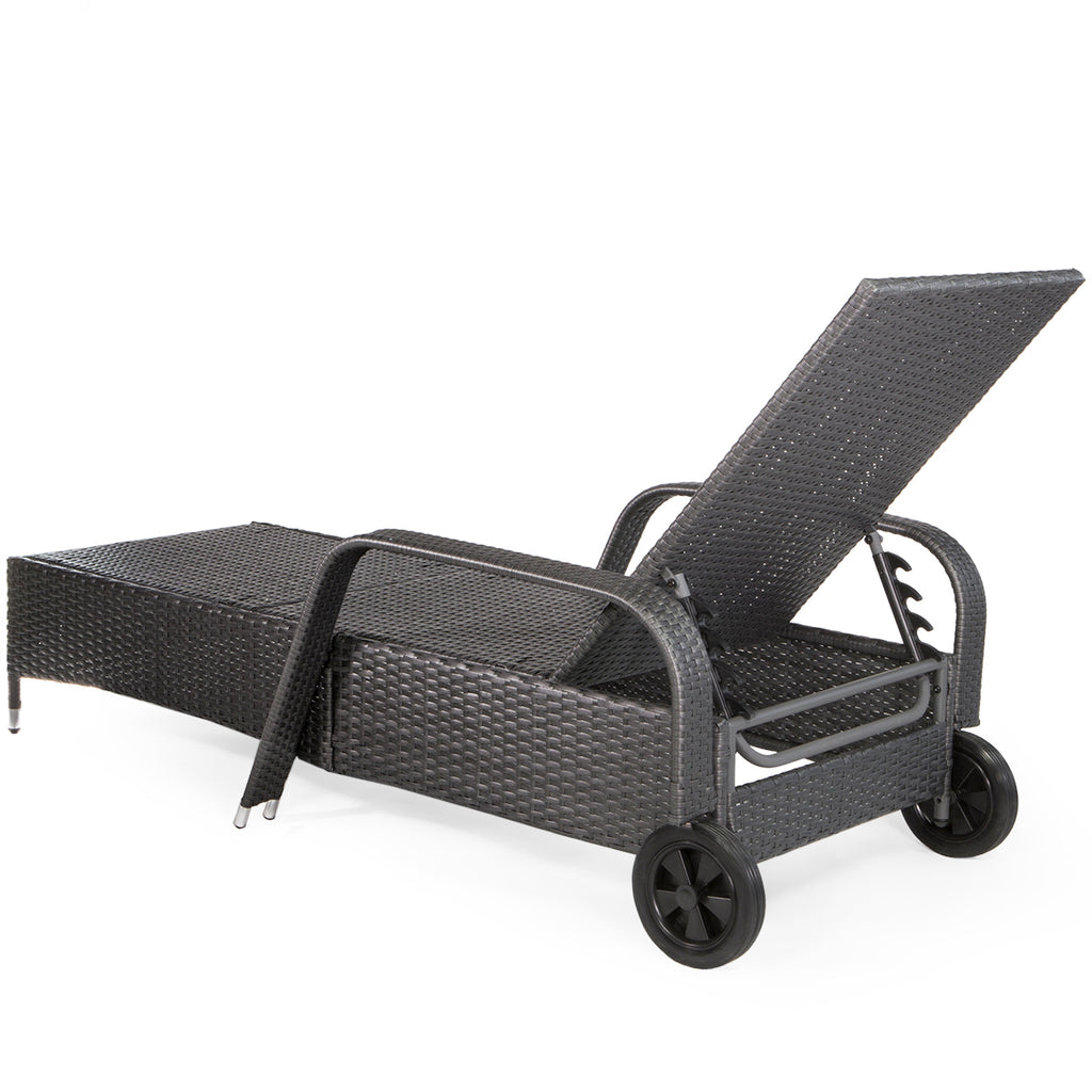 Barton Outdoor Patio Adjustable Rattan Wicker Pool Chaise