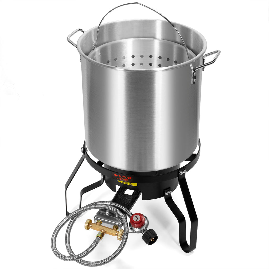52 Quart Outdoor Turkey Fryer Kit Deep Steamer Food Boiler