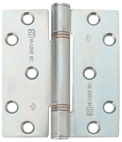 Butt Hinge, Fixed Pin, 3 Knuckle, 100 x 88 mm, Mild Steel, HI-LOAD