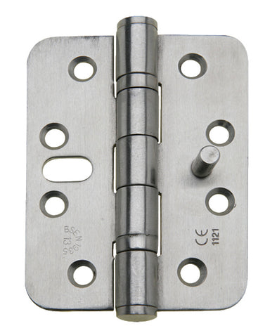 Butt Hinge, Security, 102 x 76 mm, Radius Corners, Stainless Steel