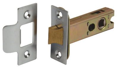 Mortice Latch, Tubular, Heavy Duty, Latchbolt Operated by Lever Handles, Bolt Through