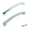 Stylish Curved Handles in Chrome and Stainless Steel Finishes M6