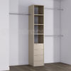 Cashmere Deluxe 3 Drawer Tower Shelving Unit with Hanging Bars
