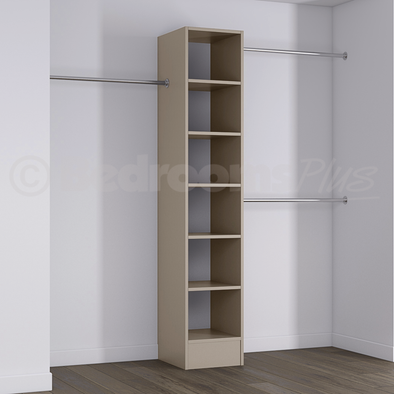 Cashmere Deluxe Tower Shelving Unit with Hanging Bars