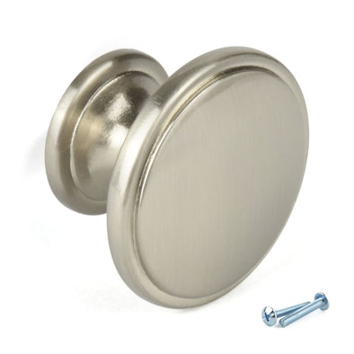 Nickel Knob Kitchen Door Handle. M4TEC F9 series: