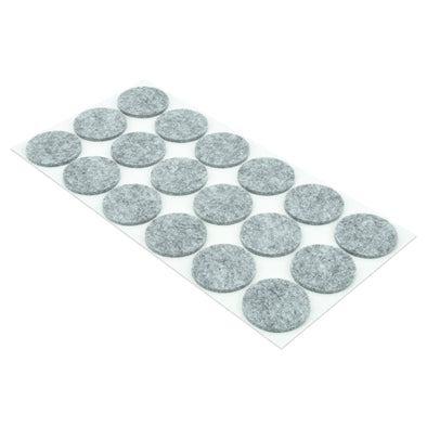 35mm round Protective Self-Adhesive Felt Furniture Pads (18 pads)