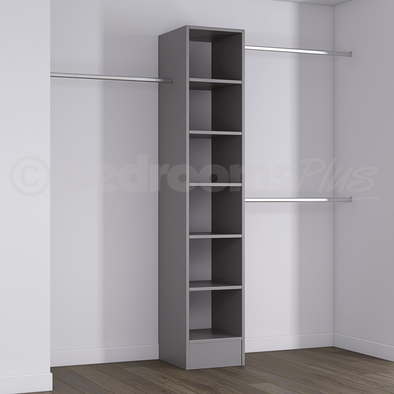 Silver Deluxe Tower Shelving Unit with Hanging Bars