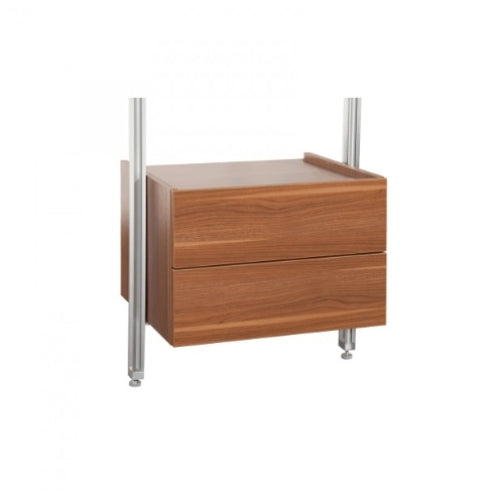 Space Pro Relax furniture - W550 Double drawer unit - Walnut