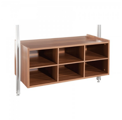 Space Pro Relax furniture - W900mm Matrix unit - Walnut