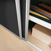 Contour Aluminium Frame Black Glass Sliding Wardrobe Door