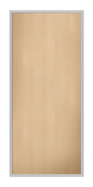 Contour Aluminium Frame Maple Sliding Wardrobe Door