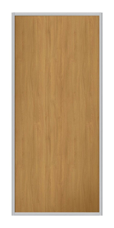 Contour Aluminium Frame Oak Panel Sliding Wardrobe Door