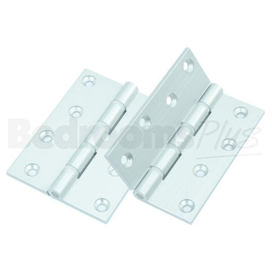 Aluminium Interior Hygiene Butt Door Hinge - Fixings Included - 2 pcs