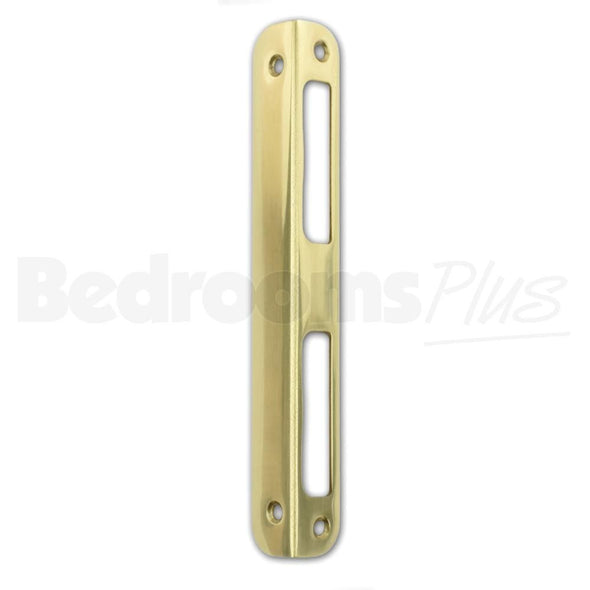 Angled Brass Strike Locking Door Plate DIN R/L Interior & WC/Bathroom Locks ZB9