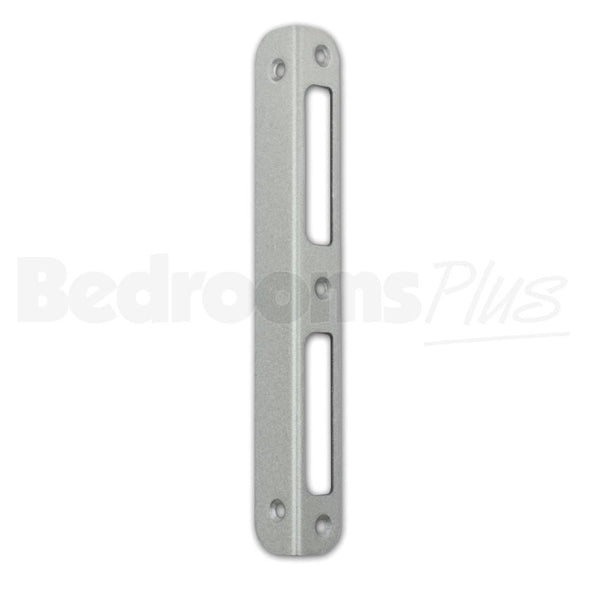 Angled Silver Strike Locking Door Plate DIN R/L Interior & WC/Bathroom Locks ZB9