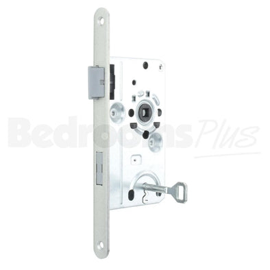 Bathroom Interior Door Class 1 Mortice Lock Latch - DIN L - Silver ZB5