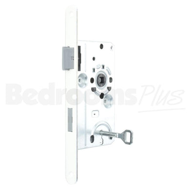 Bathroom Interior Door Class 1 Mortice Lock Latch - DIN L - White ZB5