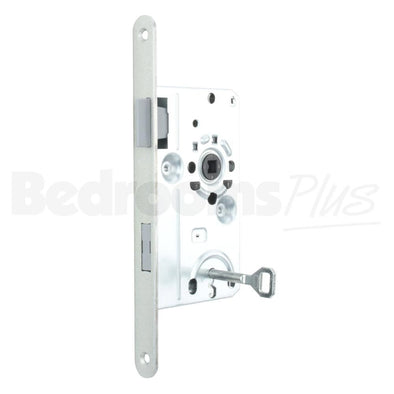 Bathroom Interior Door Class 1 Mortice Lock Latch - DIN R - Silver ZB5