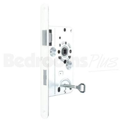 Bathroom Interior Door Class 1 Mortice Lock Latch - DIN R - White ZB5