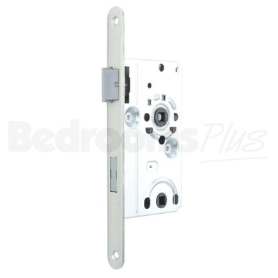 Bolt through Interior Door Class 1 Mortice Lock Latch - DIN L - Silver ZB6