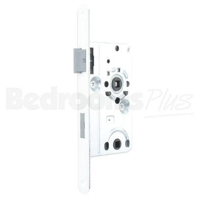 Bolt through Interior Door Class 1 Mortice Lock Latch - DIN L - White ZB6