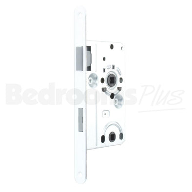 Bolt through Interior Door Class 1 Mortice Lock Latch - DIN R - White ZB6