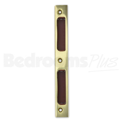 Brass Strike Locking Door Plate Angled DIN R/L - Interior WC/Bathroom Locks ZB8