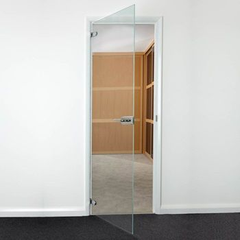 Clear Glass Hinged Door 678mm