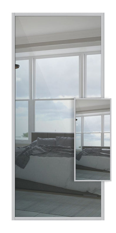 Domalti Double Sided Sliding Wardrobe Door - Mirror & Mirror
