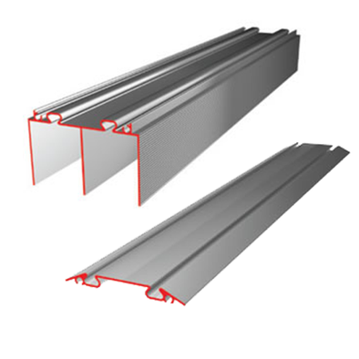 Switch Aluminium Sliding Wardrobe Door Track Set