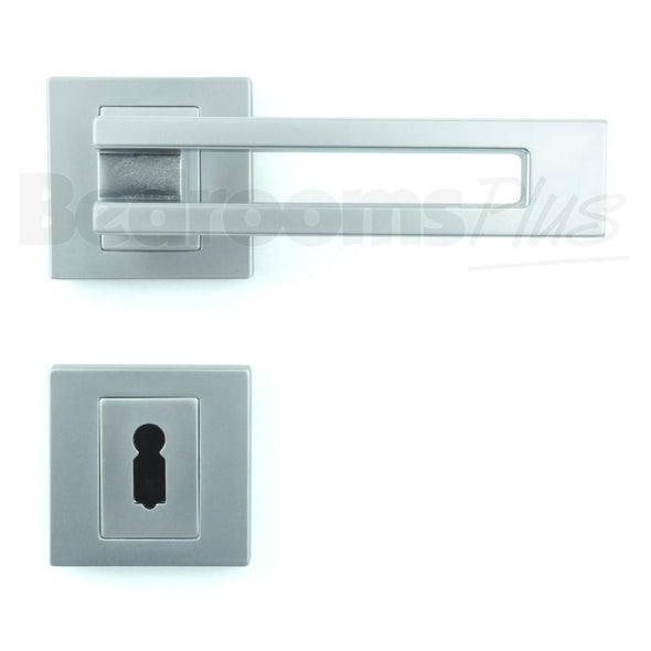 Interior Door Handle Pair - Lever on Rose - Gloss Chrome Finish ZA6