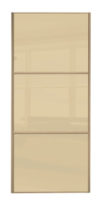 Classic Maple Frame Cream/Cream/Cream Glass Sliding Wardrobe Door