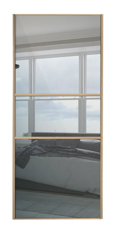 Classic Maple Frame Mirror/Mirror/Mirror Glass Sliding Wardrobe Door