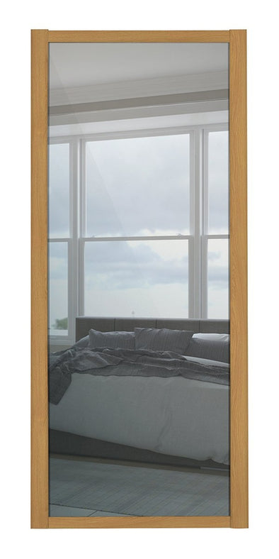 Oak Frame Mirror Shaker Sliding Wardrobe Door