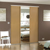 Heritage Oak Frame Oak Panel Sliding Wardrobe Door