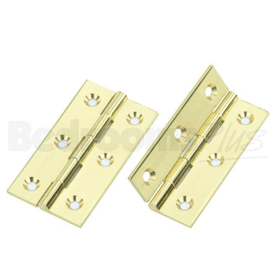 Polished Brass Brass Interior Butt Door Hinge - Fixings Included - 2 pcs ZC4