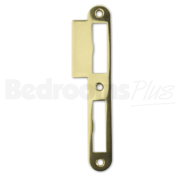 Polished Brass Strike Locking Door Plate - DIN R - For Single & Double-Turn ZB7